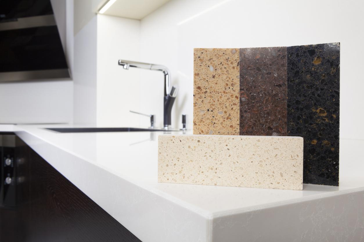quartzo sintético para a cozinha