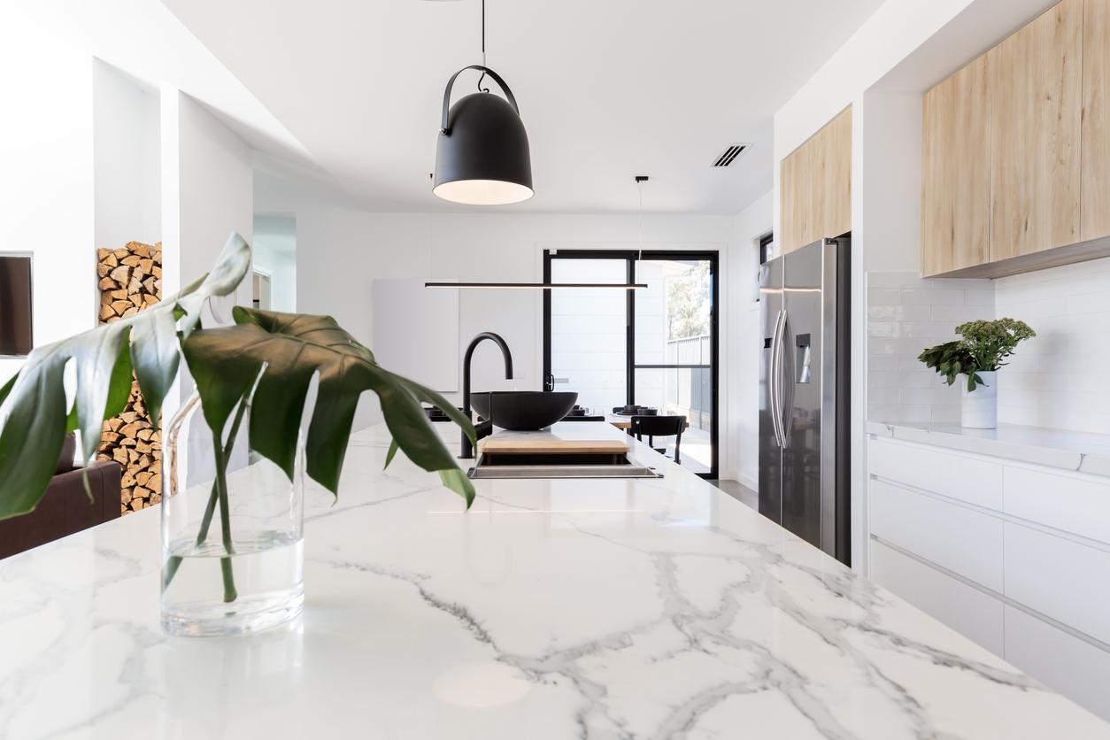 mármore para a cozinha