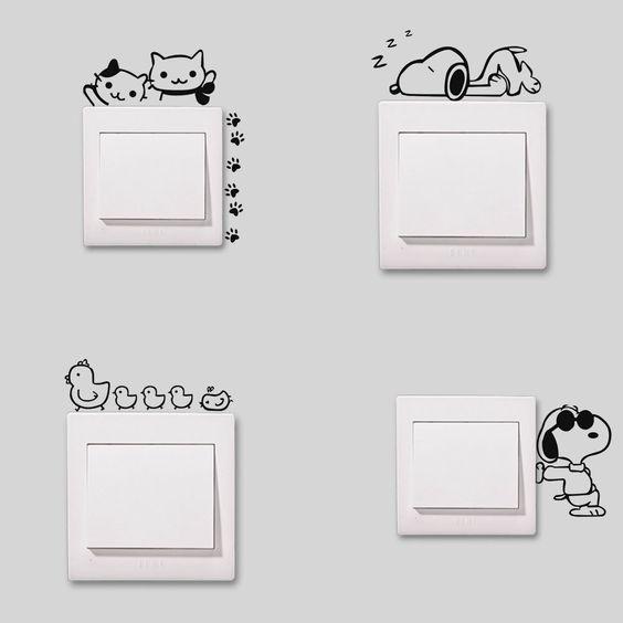 interruptor divertido para quarto do bebê