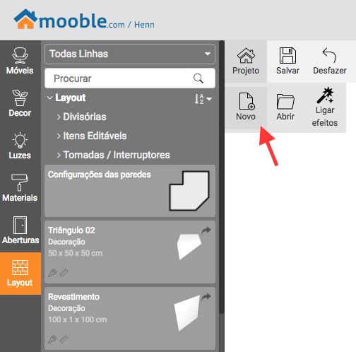 Ferramenta Mooble para simular ambientes com móveis modulados.