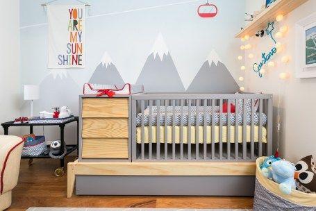 Quarto de bebê com pintura decorada